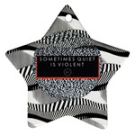 Sometimes Quiet Is Violent Twenty One Pilots The Meaning Of Blurryface Album Star Ornament (Two Sides)  Back