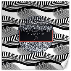 Sometimes Quiet Is Violent Twenty One Pilots The Meaning Of Blurryface Album Canvas 20  x 20