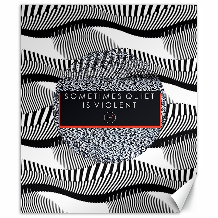 Sometimes Quiet Is Violent Twenty One Pilots The Meaning Of Blurryface Album Canvas 20  x 24