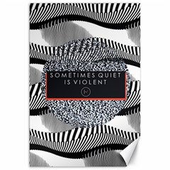 Sometimes Quiet Is Violent Twenty One Pilots The Meaning Of Blurryface Album Canvas 20  X 30