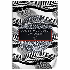 Sometimes Quiet Is Violent Twenty One Pilots The Meaning Of Blurryface Album Canvas 24  x 36