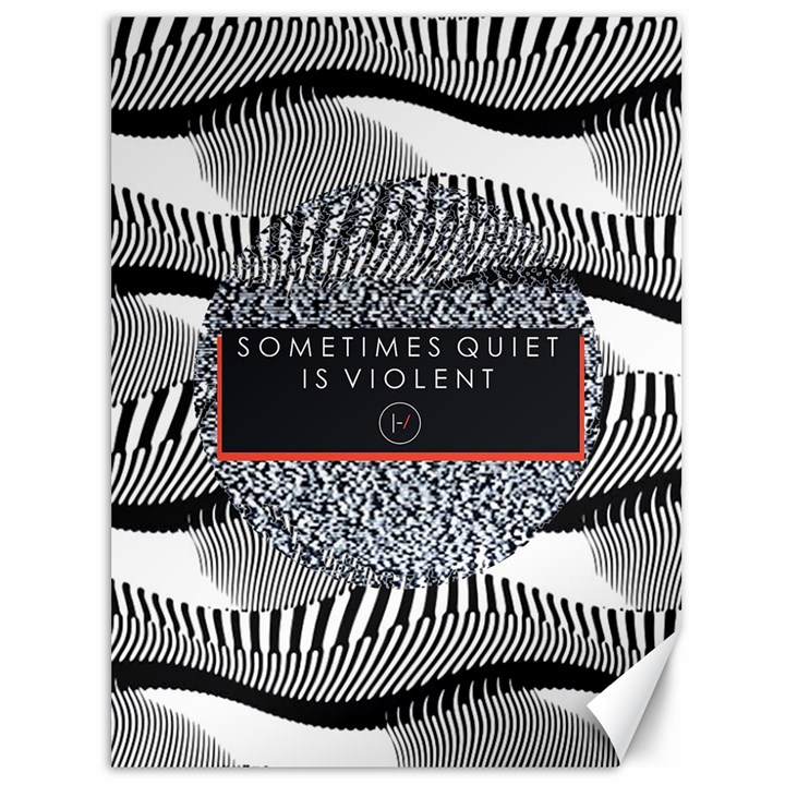Sometimes Quiet Is Violent Twenty One Pilots The Meaning Of Blurryface Album Canvas 36  x 48