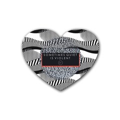 Sometimes Quiet Is Violent Twenty One Pilots The Meaning Of Blurryface Album Heart Coaster (4 pack)