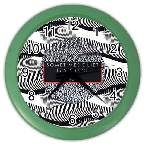 Sometimes Quiet Is Violent Twenty One Pilots The Meaning Of Blurryface Album Color Wall Clocks