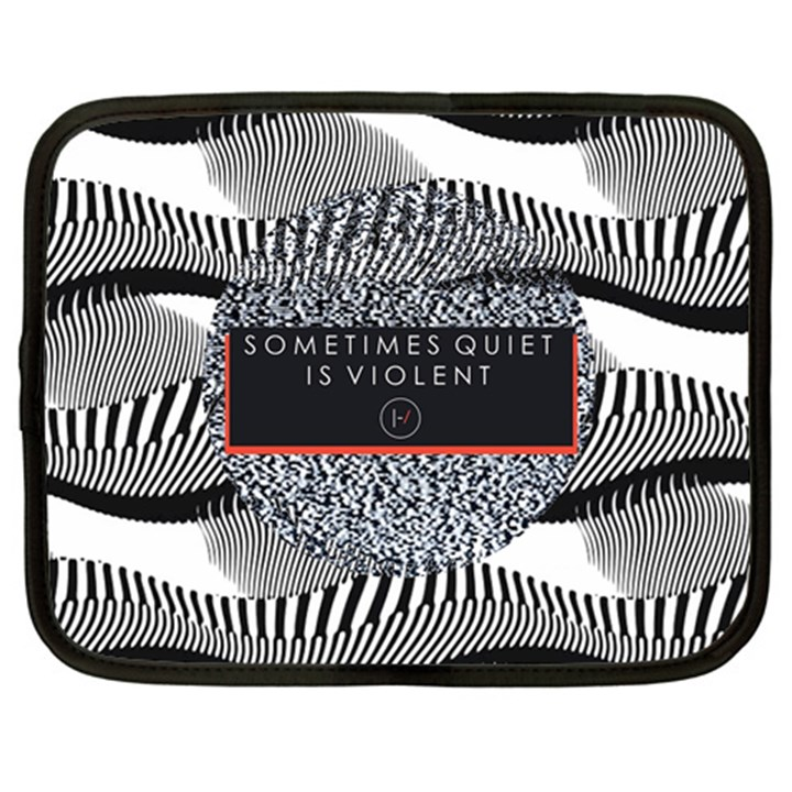 Sometimes Quiet Is Violent Twenty One Pilots The Meaning Of Blurryface Album Netbook Case (Large)