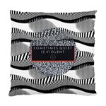 Sometimes Quiet Is Violent Twenty One Pilots The Meaning Of Blurryface Album Standard Cushion Case (One Side) Front