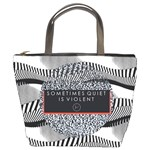 Sometimes Quiet Is Violent Twenty One Pilots The Meaning Of Blurryface Album Bucket Bags Front
