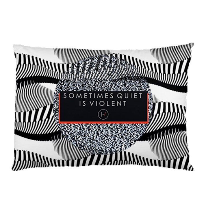 Sometimes Quiet Is Violent Twenty One Pilots The Meaning Of Blurryface Album Pillow Case