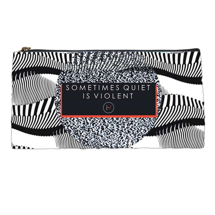 Sometimes Quiet Is Violent Twenty One Pilots The Meaning Of Blurryface Album Pencil Cases
