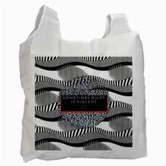Sometimes Quiet Is Violent Twenty One Pilots The Meaning Of Blurryface Album Recycle Bag (One Side)