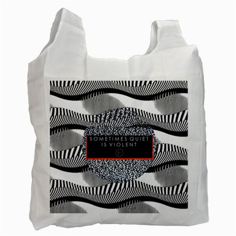 Sometimes Quiet Is Violent Twenty One Pilots The Meaning Of Blurryface Album Recycle Bag (Two Side)