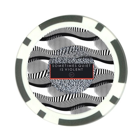 Sometimes Quiet Is Violent Twenty One Pilots The Meaning Of Blurryface Album Poker Chip Card Guards (10 pack)