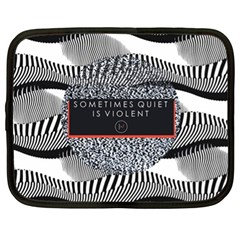 Sometimes Quiet Is Violent Twenty One Pilots The Meaning Of Blurryface Album Netbook Case (XL)