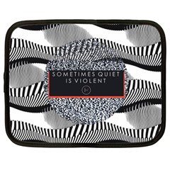 Sometimes Quiet Is Violent Twenty One Pilots The Meaning Of Blurryface Album Netbook Case (XXL)