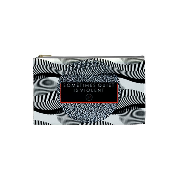 Sometimes Quiet Is Violent Twenty One Pilots The Meaning Of Blurryface Album Cosmetic Bag (Small)
