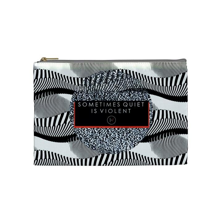 Sometimes Quiet Is Violent Twenty One Pilots The Meaning Of Blurryface Album Cosmetic Bag (Medium)