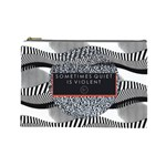 Sometimes Quiet Is Violent Twenty One Pilots The Meaning Of Blurryface Album Cosmetic Bag (Large)  Front