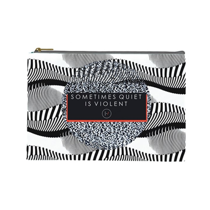 Sometimes Quiet Is Violent Twenty One Pilots The Meaning Of Blurryface Album Cosmetic Bag (Large)