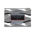 Sometimes Quiet Is Violent Twenty One Pilots The Meaning Of Blurryface Album Cosmetic Bag (Large)  Back