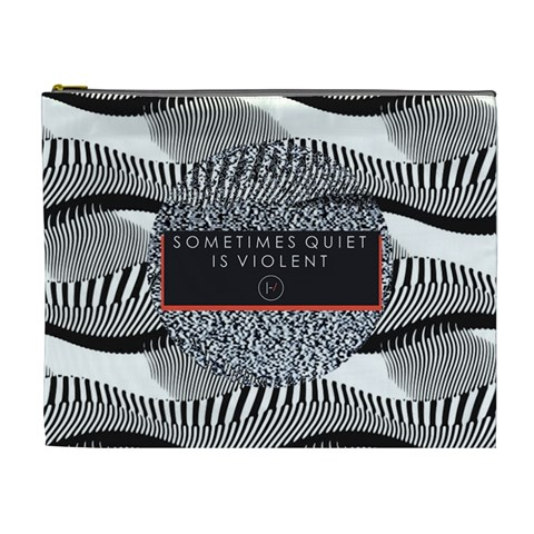 Sometimes Quiet Is Violent Twenty One Pilots The Meaning Of Blurryface Album Cosmetic Bag (XL)