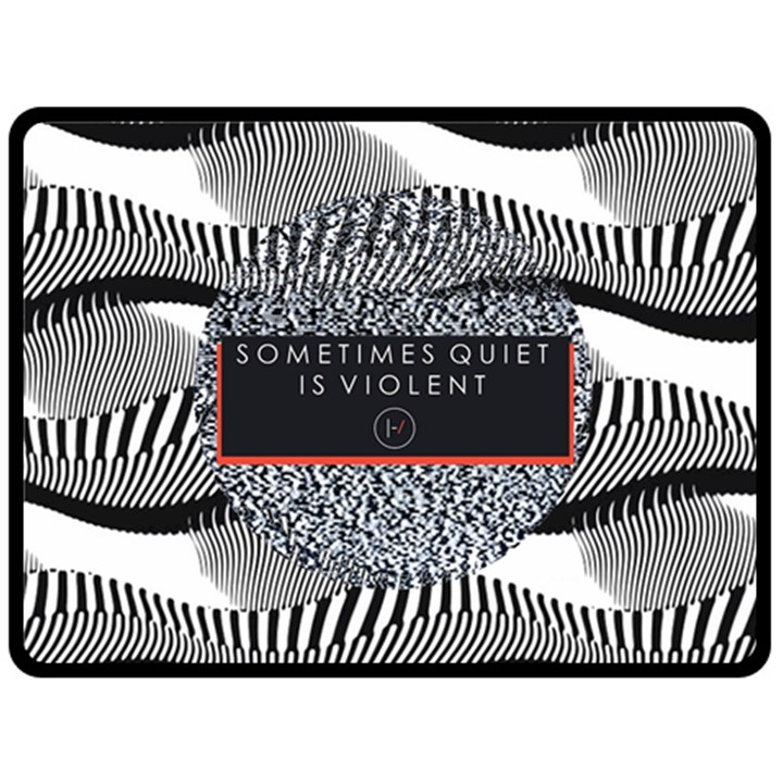 Sometimes Quiet Is Violent Twenty One Pilots The Meaning Of Blurryface Album Fleece Blanket (Large)