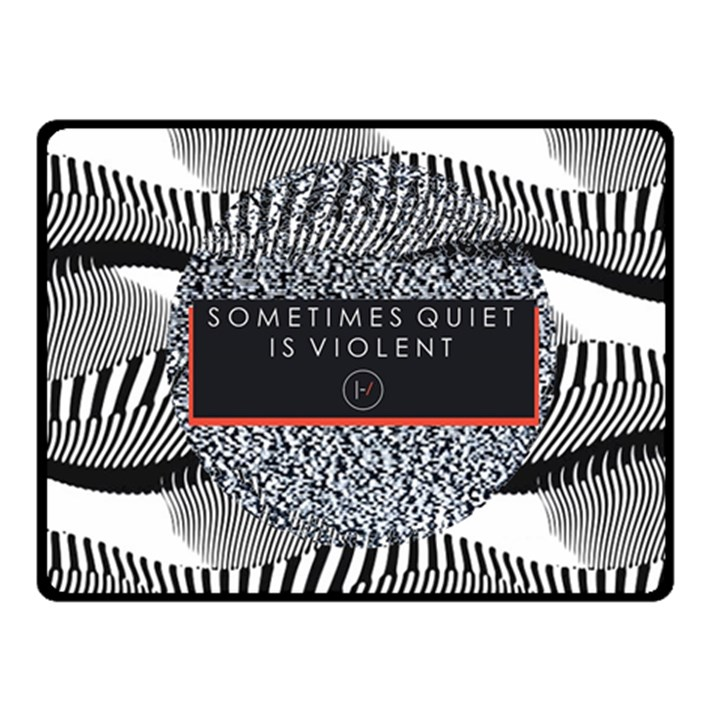 Sometimes Quiet Is Violent Twenty One Pilots The Meaning Of Blurryface Album Fleece Blanket (Small)