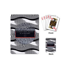 Sometimes Quiet Is Violent Twenty One Pilots The Meaning Of Blurryface Album Playing Cards (mini)