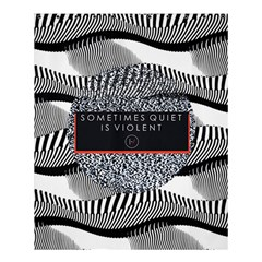 Sometimes Quiet Is Violent Twenty One Pilots The Meaning Of Blurryface Album Shower Curtain 60  X 72  (medium)