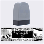 Sometimes Quiet Is Violent Twenty One Pilots The Meaning Of Blurryface Album Name Stamps 1.4 x0.5  Stamp