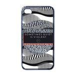 Sometimes Quiet Is Violent Twenty One Pilots The Meaning Of Blurryface Album Apple iPhone 4 Case (Black) Front