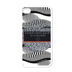 Sometimes Quiet Is Violent Twenty One Pilots The Meaning Of Blurryface Album Apple iPhone 4 Case (White)