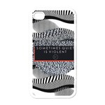 Sometimes Quiet Is Violent Twenty One Pilots The Meaning Of Blurryface Album Apple iPhone 4 Case (White) Front