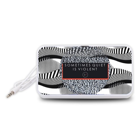Sometimes Quiet Is Violent Twenty One Pilots The Meaning Of Blurryface Album Portable Speaker (White)