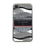 Sometimes Quiet Is Violent Twenty One Pilots The Meaning Of Blurryface Album Apple iPhone 4 Case (Clear) Front