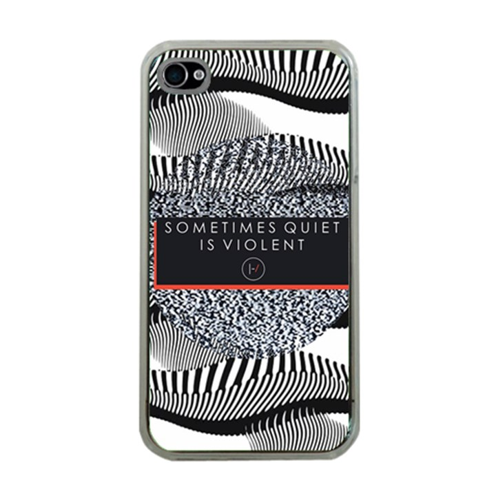 Sometimes Quiet Is Violent Twenty One Pilots The Meaning Of Blurryface Album Apple iPhone 4 Case (Clear)