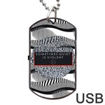 Sometimes Quiet Is Violent Twenty One Pilots The Meaning Of Blurryface Album Dog Tag USB Flash (One Side) Front
