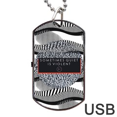 Sometimes Quiet Is Violent Twenty One Pilots The Meaning Of Blurryface Album Dog Tag USB Flash (Two Sides)