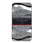 Sometimes Quiet Is Violent Twenty One Pilots The Meaning Of Blurryface Album Apple iPhone 4/4s Seamless Case (Black) Front