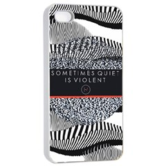 Sometimes Quiet Is Violent Twenty One Pilots The Meaning Of Blurryface Album Apple iPhone 4/4s Seamless Case (White)