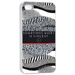 Sometimes Quiet Is Violent Twenty One Pilots The Meaning Of Blurryface Album Apple iPhone 4/4s Seamless Case (White) Front