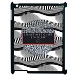 Sometimes Quiet Is Violent Twenty One Pilots The Meaning Of Blurryface Album Apple iPad 2 Case (Black) Front