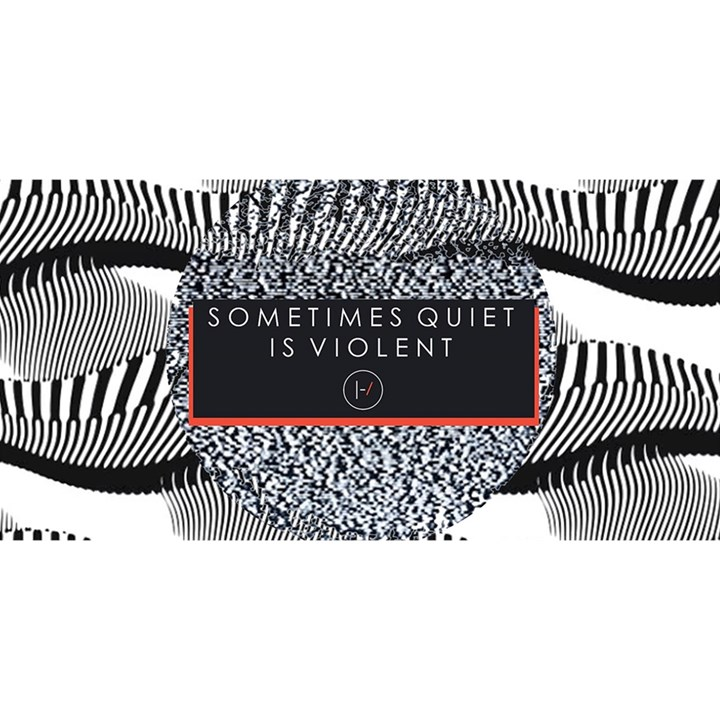 Sometimes Quiet Is Violent Twenty One Pilots The Meaning Of Blurryface Album YOU ARE INVITED 3D Greeting Card (8x4)