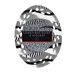 Sometimes Quiet Is Violent Twenty One Pilots The Meaning Of Blurryface Album Oval Filigree Ornament (2-Side)  Front