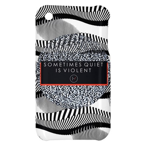 Sometimes Quiet Is Violent Twenty One Pilots The Meaning Of Blurryface Album Apple iPhone 3G/3GS Hardshell Case
