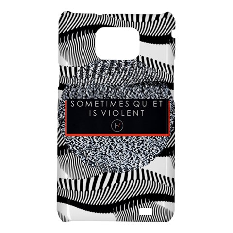 Sometimes Quiet Is Violent Twenty One Pilots The Meaning Of Blurryface Album Samsung Galaxy S2 i9100 Hardshell Case