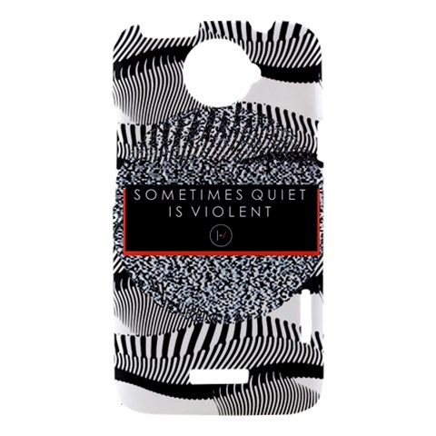 Sometimes Quiet Is Violent Twenty One Pilots The Meaning Of Blurryface Album HTC One X Hardshell Case