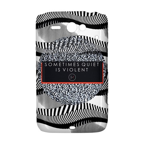 Sometimes Quiet Is Violent Twenty One Pilots The Meaning Of Blurryface Album HTC ChaCha / HTC Status Hardshell Case