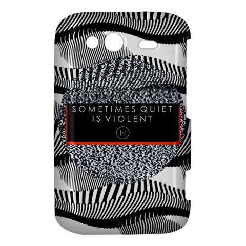 Sometimes Quiet Is Violent Twenty One Pilots The Meaning Of Blurryface Album HTC Wildfire S A510e Hardshell Case