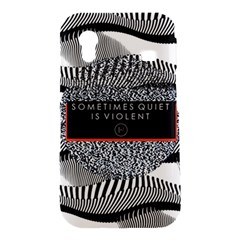 Sometimes Quiet Is Violent Twenty One Pilots The Meaning Of Blurryface Album Samsung Galaxy Ace S5830 Hardshell Case