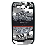 Sometimes Quiet Is Violent Twenty One Pilots The Meaning Of Blurryface Album Samsung Galaxy S III Case (Black) Front